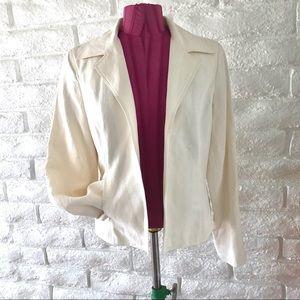 Liz Claiborne Off-White Blazer Sz 10